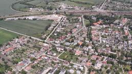 Letecká snímka obce