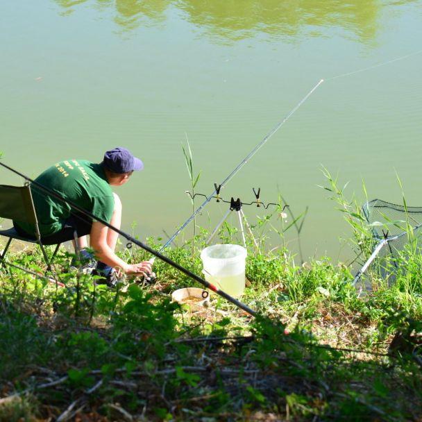 Rybárske preteky detí - Deň obce 2016