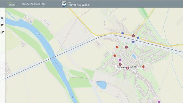 Získajte informácie z mapového portálu našej obce